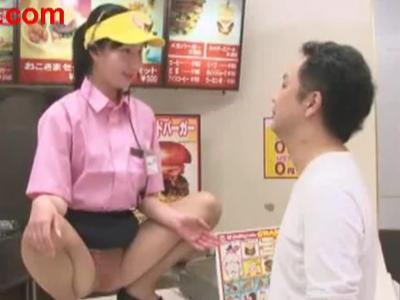Hなファーストフード店、「M字にナルド」!衝撃。